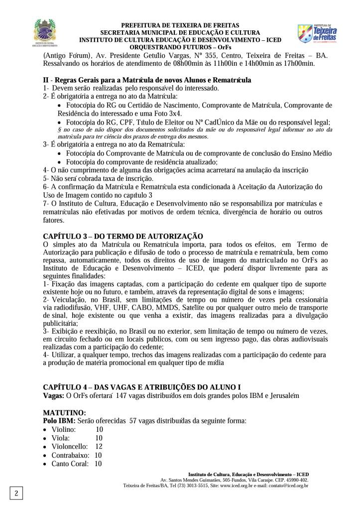 Edital para preenchimento de vagas remanescentes do OrFs 2016-A (pág. 2)