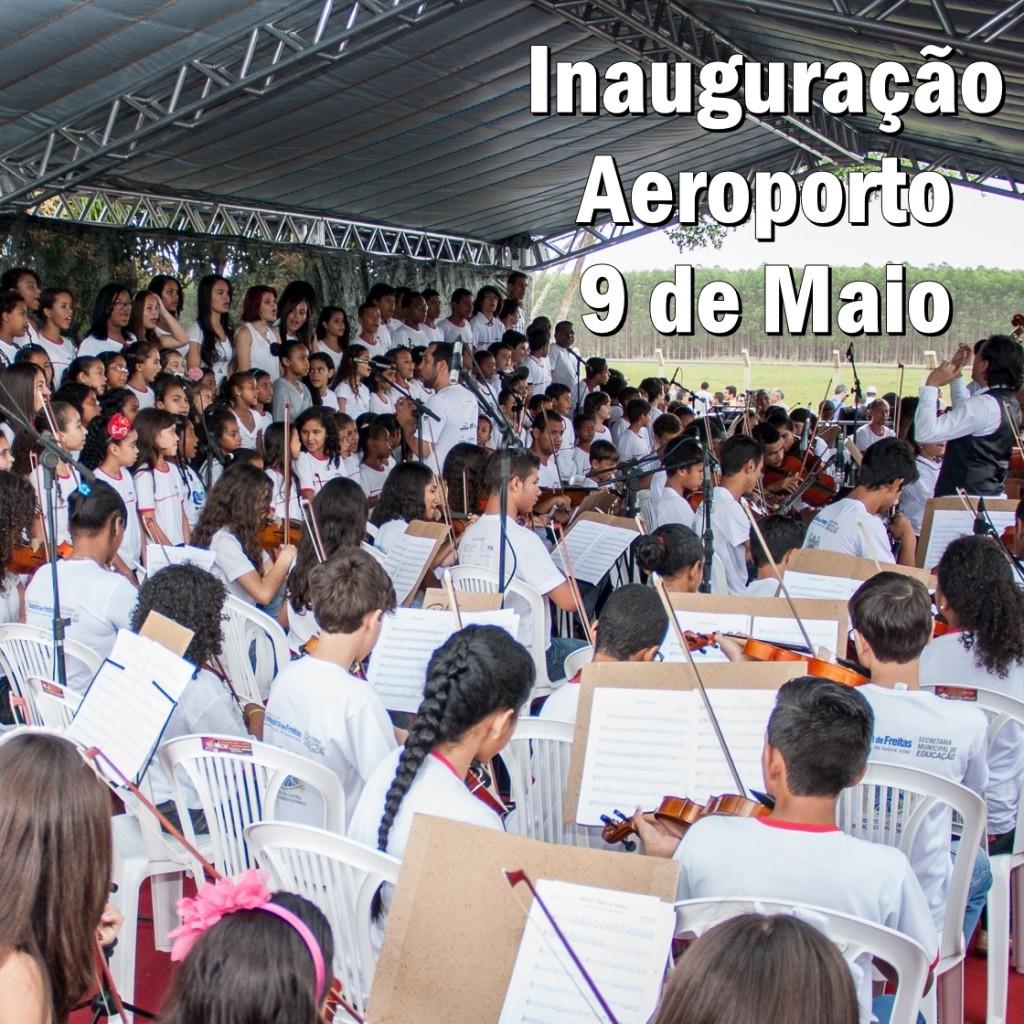 Inauguração Aeroporto 9 de Maio
